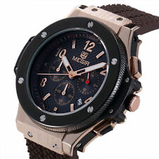 MEGIR Brand Military Stylish Mens Calendar Rubber Men Sports Luxury Watches
