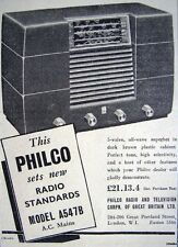 1949 'PHILCO' Model A547B 5-Valve Radio Print ADVERT - Small Original Ad