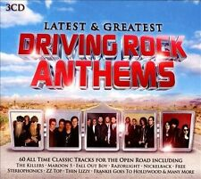 3 CDS LATEST & GREATEST DRIVING ROCK ANTHEMS 60 All Time Classic Tracks NEW