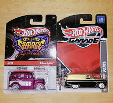 Hot Wheels Garage ~ School Busted ~ 55' Chevy Panel ~ Lot of 2