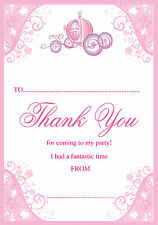 Princess Carriage Princess Party Thank You Notes x 20 A5 with envelopes
