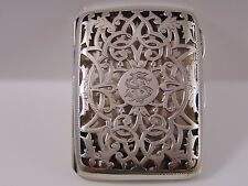 Antique Sterling Silver Card Case. Birm.1903 maker John Millward Banks 63.4grms