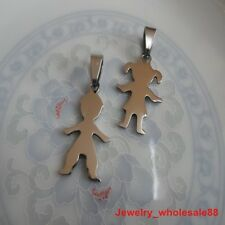 5 Pairs Stainless Steel Baby Girl Boy Charms Pendant on sale Fashion Jewelry