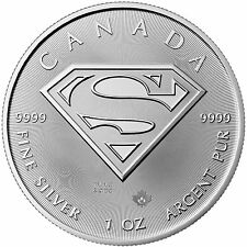 2016 Canada Silver Superman: S-Shield 1oz BU