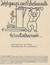 Y6615 LEBEWOHL - Illustrazione -  Pubblicità d'epoca - 1927 Old advertising