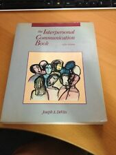 The Interpersonal Communication Book by Joseph A. DeVito (1988, Hardcover)