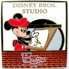 DISNEY PIN~LE 1400~IT ALL STARTED WITH WALT~DISNEY BROS. STUDIO~MICKEY DRAWING