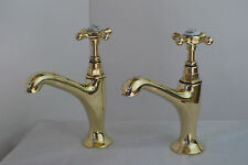 BRASS BELFAST KITCHEN SINK TAPS OLD RECLAIMED & REFURBISHED VINTAGE