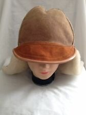 Awesome Sundance Mens Sheepskin winter hat. Light Brown Color SXS