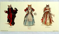 Cat Print from Venice, Aristocratic Venetian Cats in Costume Qty paper Colombina