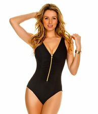Miraclesuit Plus 22W Suit Yourself Blitz Swimsuit One Piece Bathing Suit Black