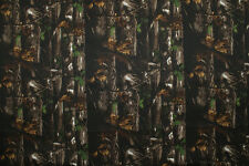 Shower Resistant Polyester Night Forest Camouflage Print Fabric Material