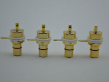 4x AMP RCA Female Golden Plated Jack Chassis Socket