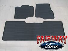 15 thru 17 F-150 OEM Genuine Ford All Weather Floor Mat Set 3-pc EXTENDED CAB