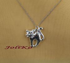 JoliKo Anhänger Silber pl Katze Katzen Schmuck Cat Miau Miezi Cats Chat Tattoo