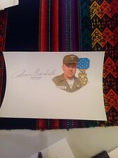 Bruce P Crandall SIGNED Card -   Medal Of Honor