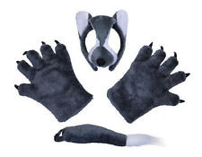 Wolf Set Mask Tail Paws Werewolf Disguise Wolf Man Animal Halloween Fancy Dress