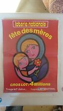 AFFICHE LOTERIE NATIONALE FETE DES MERES GUY CHABROL LOTO