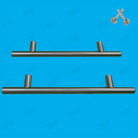 Matt Chrome Effect T Bar Pull Door Handles, Wardrobe, Cupboard, Cabinet, Kitchen