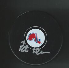 Peter Andersson Signed Quebec Nordiques Puck