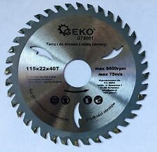 Angle Grinder Saw Blade For Wood Disc Circular Saw Blade 115x22x40T