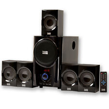 Acoustic Audio AA5160 Home Theater 5.1 Surround Sound Speaker System w/ FM Tuner