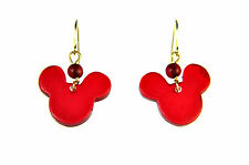 ELEGANT STUNNING VIBRANT RED MICKEY MOUSE EARRINGS BRAND NEW UNIQUE CUTE  (A19)