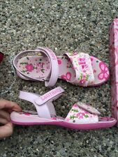 LELLI KELLY BUTTERFLY PINK FANTASY shoe sandal girl youth 33 2 velcro wrn3X EUC