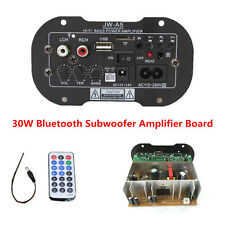 Universal Car Subwoofer Hi-Fi Bass Power Amplifier Board TF USB Bluetooth 30W