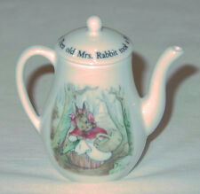 "RARE! WEDGWOOD MINI / MINIATURE PETER RABBIT COFFE POT 2 3/4"" TALL NEW IN BOX"