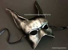 Black Silver Jackal Mask Anubis Egypt Egyptian Dog Halloween costume Dress up