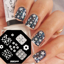 1Pc Nail Art Stamp Template Image Stamping Plate Lovely Flower Star Pattern QA64