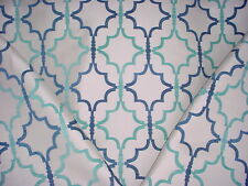 5y KRAVET / LEE JOFA AEGEAN BLUE ARABESQUE GATE CHENILLE UPHOLSTERY FABRIC