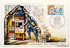 Yt 1671 A LA POSTE AUX ARMEES    FRANCE  CARTE MAXIMUM