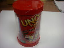 MATTEL UNO TUBO CARD GAME REUSABLE STORAGE TUBE NEW