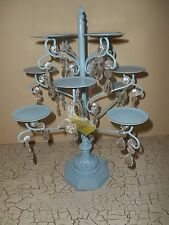 OPULENT TREASURES Light Baby Blue Chandelier 12 Cupcake Stand