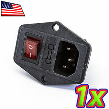 [1x] IEC320 C14 Power Cord Inlet Socket 250V/10A with Fuse Holder Rocker Switch