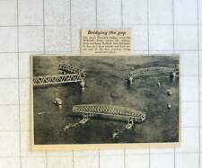 1955 Last Sections Of The Great Moerdyk Bridge Towed Into Place