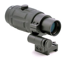 TMS 3x Magnifier Scope w/ 90 Degree FTS Flip to Side Mount for Red Dot Sight