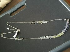 $39.95 New With Tag Coldwater Creek Silver Chain Necklace Blue Green Beads.