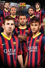 Barcelona Players 2013 - 2014 - Maxi Poster 61cm x 91.5cm (new & sealed)
