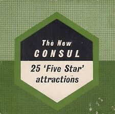 Ford Consul Mk2 '25 Five Star Attractions' 1956-57 UK Market Foldout Brochure