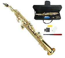 NEW Merano B Flat Gold Brass Soprano Saxophone,Case Student - Intermediate