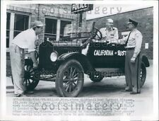 1955 Holland MI Policeman w Men in Vintage Auto California Bound Press Photo