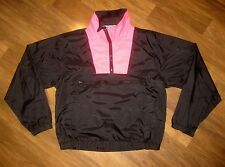 Vtg 80s 90s OUTRAGEOUS Neon Pink Mens SMALL Surf Style windbreaker Coat Jacket S