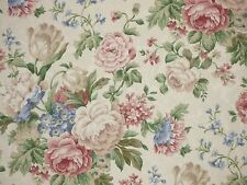 Mill Creek Floral PETAL Russet Green Cream Home Decor Drapery Sewing Fabric