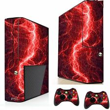Red Electric Sticker/Skin xbox 360e Console & Remote controller stickers xsk22