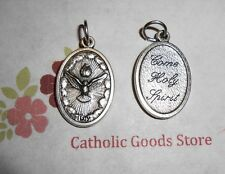 "Holy Spirit - Come Holy Spirit -  Ox Silver-tone Die Cast Italian 1"" Medal"
