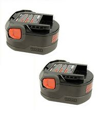 Ridgid (2 Pack) 130252002 12v 12 volt 1.25ah NiCad slide style battery pack New