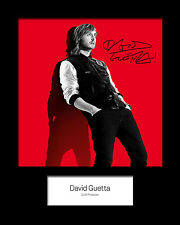 DAVID GUETTA Signed Photo Print 10x8 Mounted Photo Print - FREE DELIVERY